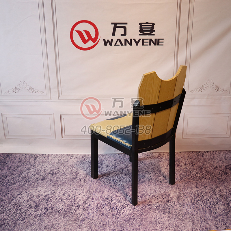 Butterfly chair ship board back dining chair, black hardware chair, wrought iron antique style chair factory direct professional custom dining chair