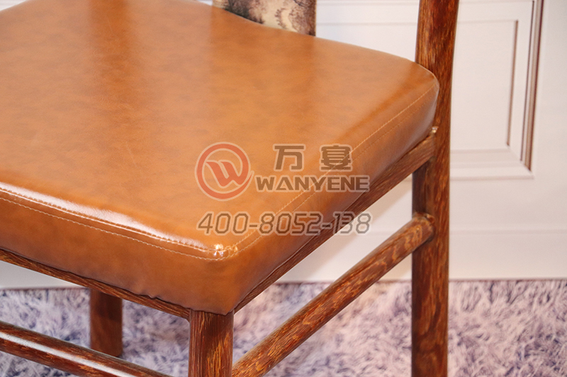 New horn Chair Hardware metal dining chair Soft Leather upholstery Dining Chair Banquet Restaurant Chair