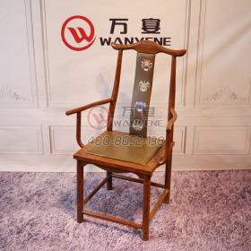 Antique Ming and Qing Dynasties Chair Antique Solid Wood Square Dining Chair Armless Soft Holder Dinette Dining Chair High End