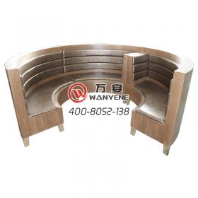 Round Western Restaurant booth sofa Sitting Sofa Round Detachable booth Sofa Leather Soft Case Back