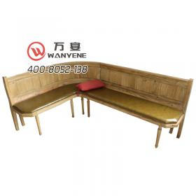 Solid wood pine seat sofa Soft seat cushion Right ...