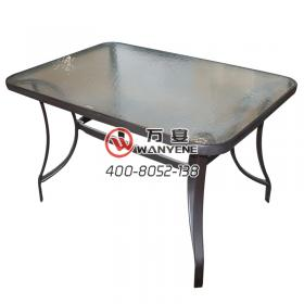 Outdoor dining table frosted glass dining table grey matte hardware dining table foot villa dining table