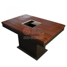Reddish brown hot pot table Marble table top with ...