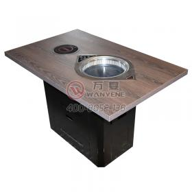 High quality solid wood square hot pot table with ...