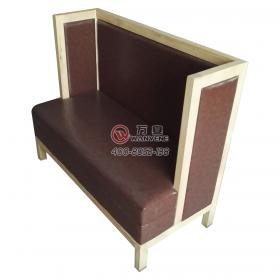 Brown double booth sofa Solid wood frame booth sof...
