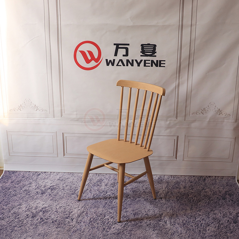 Metal Iron Dining Chair with wood grain veneer finished Hardware Windsor Chair Hardware Iron Wood Grain Thick Metal Dining Chair Thickened Firmly
