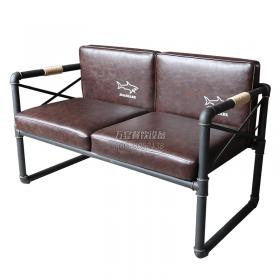 Hardware wrought iron industrial style sofa black ...