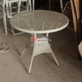 Round white outdoor coffee table outdoor rattan co...
