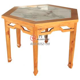Rhombus -shaped Baxian table marble embed solid wood dining table carved decoration marble table antique Ming and Qing table gossip dinner table