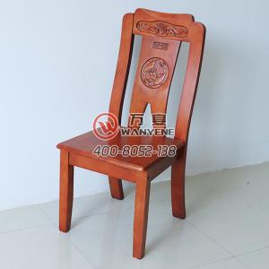Red solid wood banquet chair Antique dining chair ...
