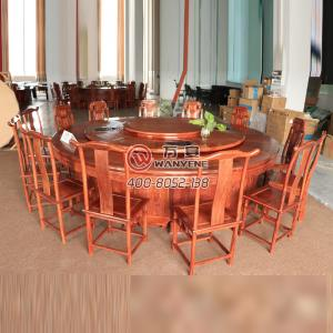High-end round turntable hot pot table carving hot pot table per person per pot dining table 3.2 meter