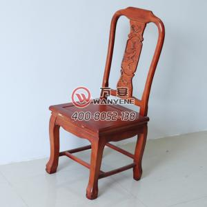 High-end antique chair Red solid wood dining chair Round-shaped backrest chair Structured strong pressure-resistant force-bearing strong banquet chair