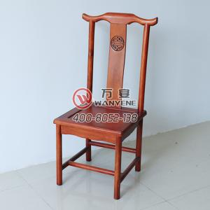 Solid wood horn chair High-end backrest carved banquet chair Hotel dining chair solid wood chair
