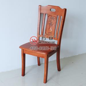 Brown red high-end solid wood hotel dining chair, ...