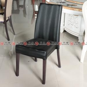 Leather dining chair restaurant use metal legs din...