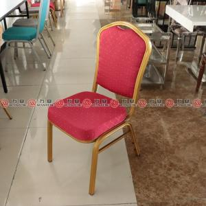 Metal frame banquet chair stackable dining chair 2...
