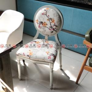 Roman style chair metal frame round back dining ch...
