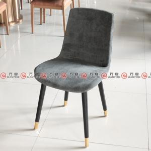 Fine Linen dining chair solid wood legs golden  fe...