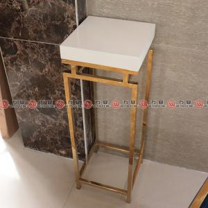 Golden stainless steel side table corner cabinet 2352