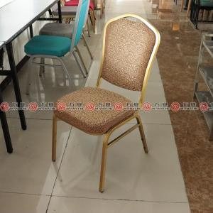 Metal frame dining chair golden plated finished fi...