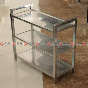 Stainless arm rack dish straight angle handle dish rack