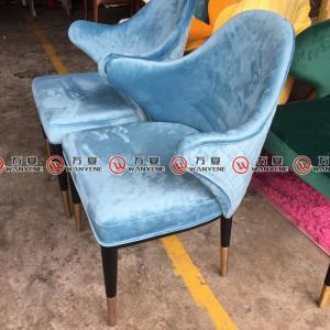 Solid wood hot pot chair velvet dining chair