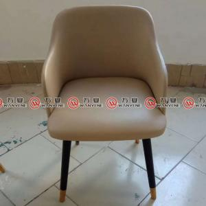 Solid wood legs leisure chair restaurant leather d...