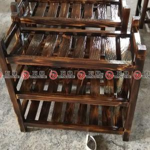 Chinese style solid pine wood dish rack 2370