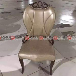 America style leather restaurant dining chair